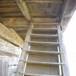 Here's a close-up of the stairs used to access the third story.