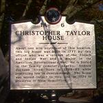 Christopher Taylor's Tennessee Historical Marker, in front of his house in Jonesborough.